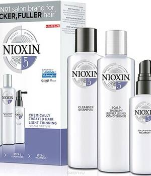 3-СТУПЕНЧАТАЯ СИСТЕМА NIOXIN №5 (300 мл) Для химически обработанных с тенденцией к истончению волос