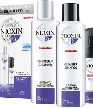 3-СТУПЕНЧАТАЯ СИСТЕМА NIOXIN №6 (150 мл) для химически обработанных истонченных волос