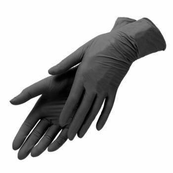 Перчатки нитриловые черные размер M Benovy